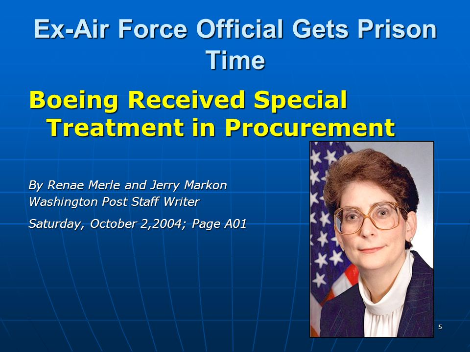 Ex-Air Force Official Gets Prison Time