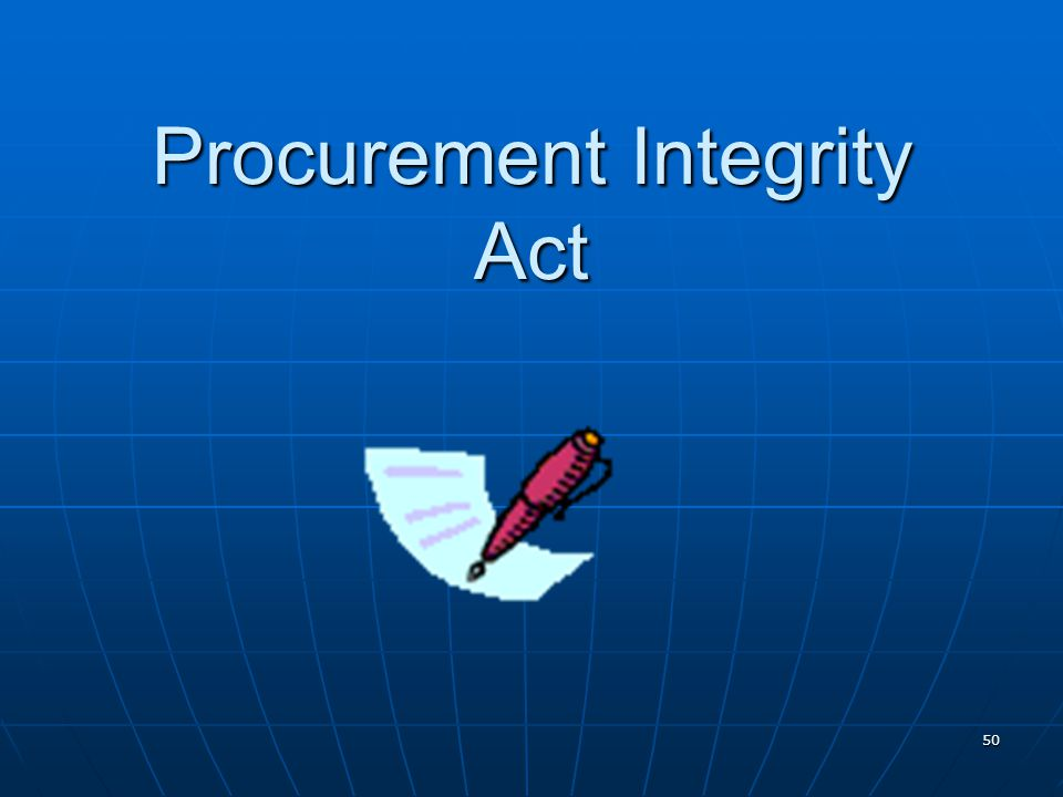 Procurement Integrity Act
