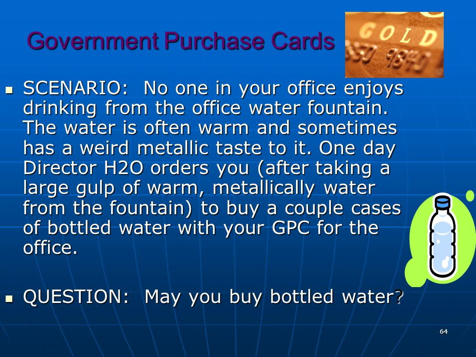 Government Purchase Cards