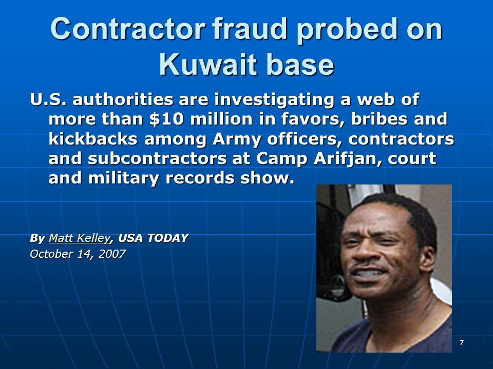 Contractor fraud probed on Kuwait base