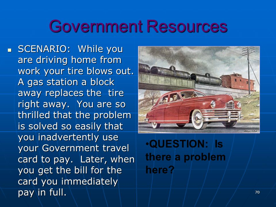 Government Resources QUESTION: Is there a problem here