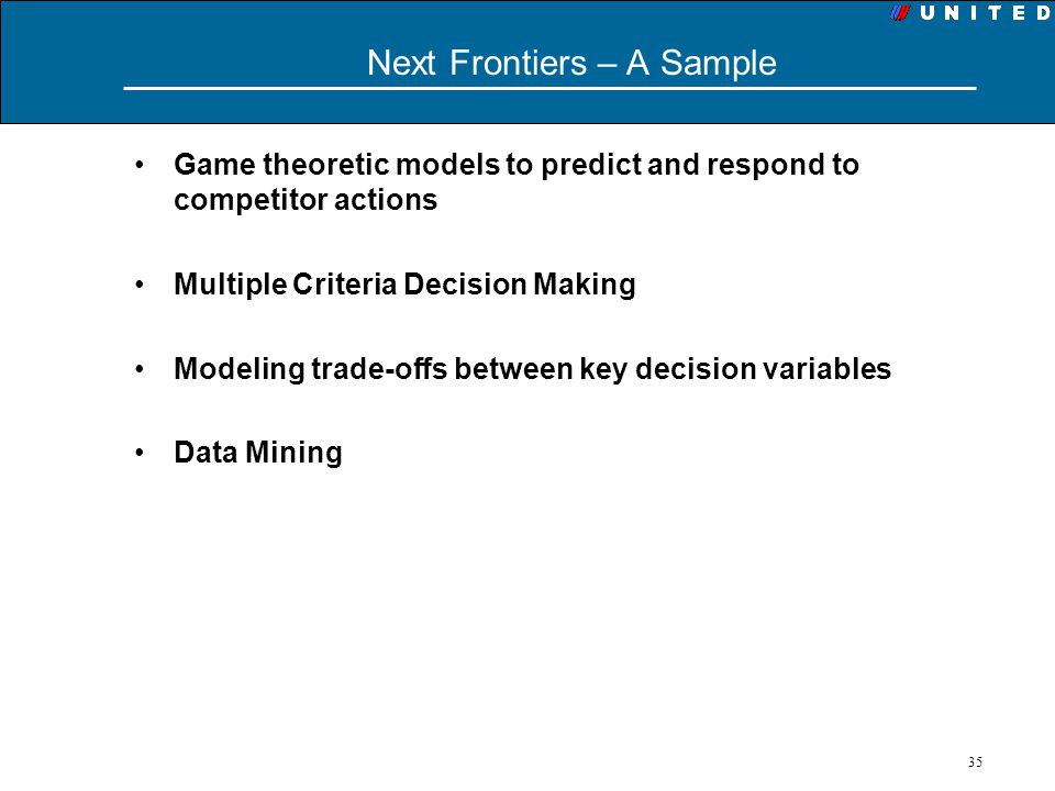 Next Frontiers – A Sample