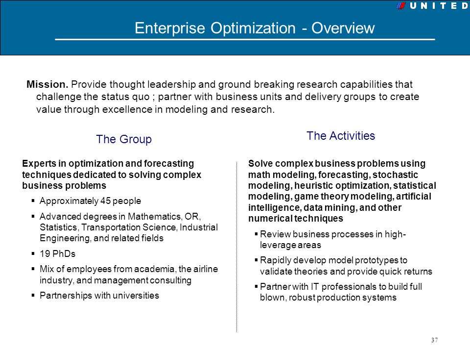 Enterprise Optimization - Overview