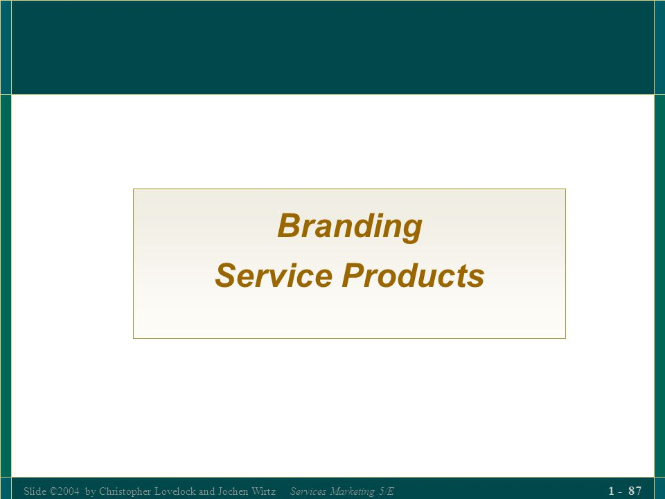 Branding Service Products
