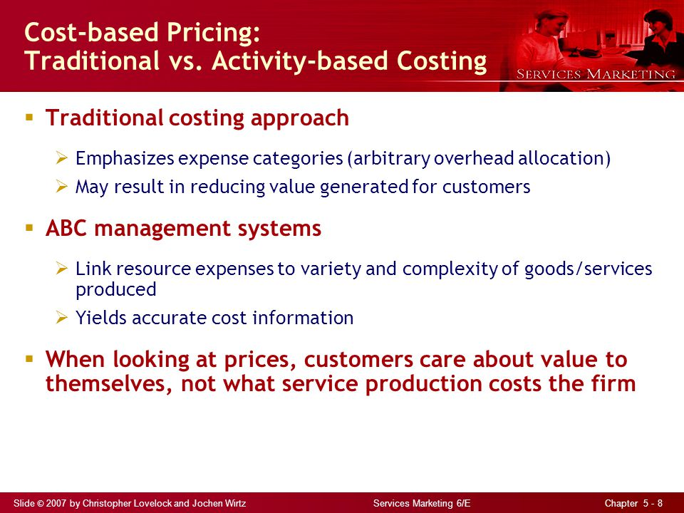 Cost-based Pricing: Traditional vs. Activity-based Costing