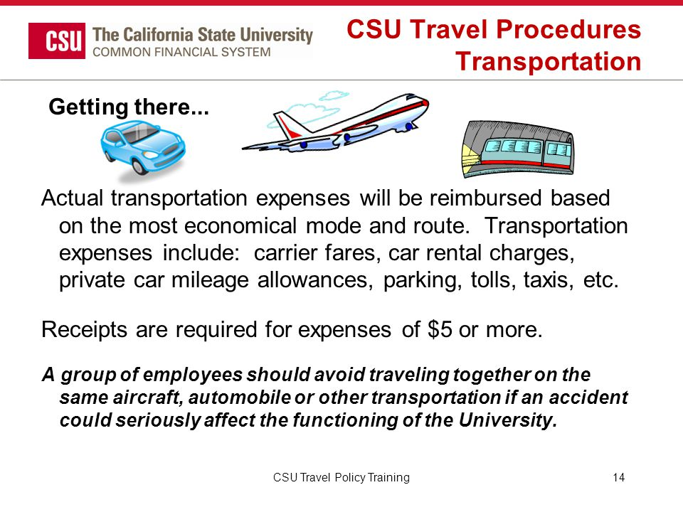 CSU Travel Procedures Transportation