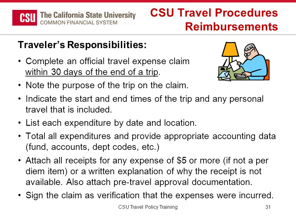 CSU Travel Procedures Reimbursements