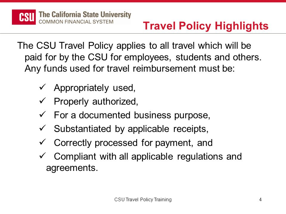 Travel Policy Highlights