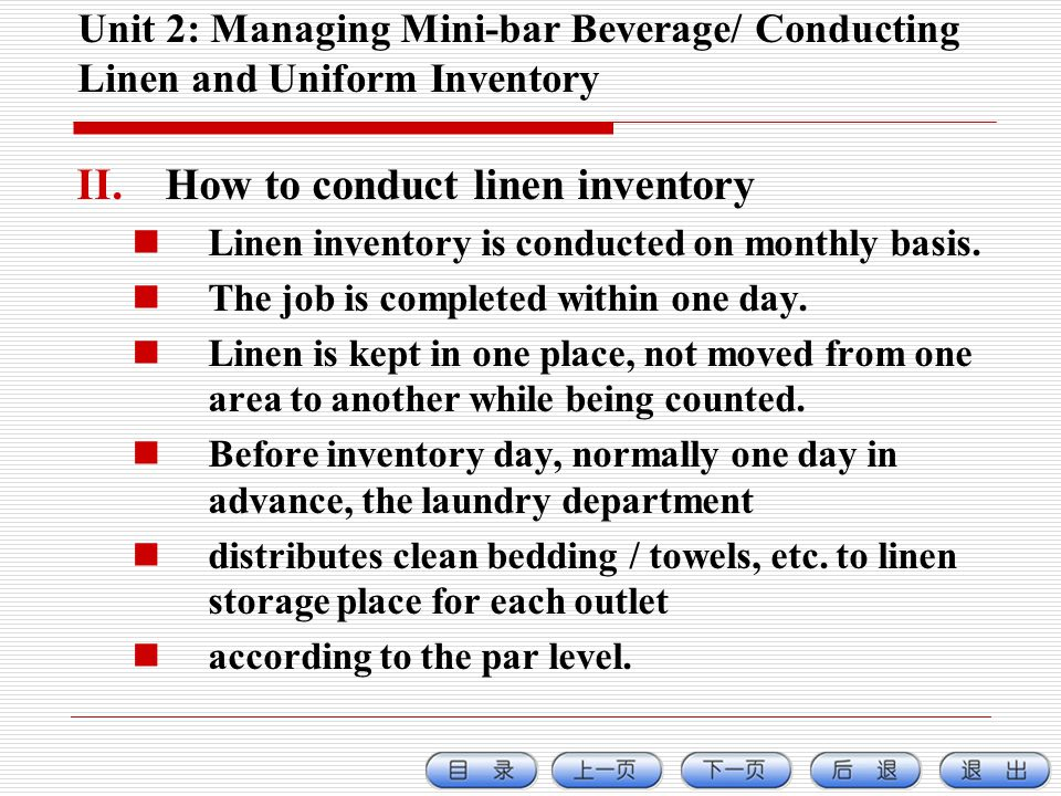 How to conduct linen inventory