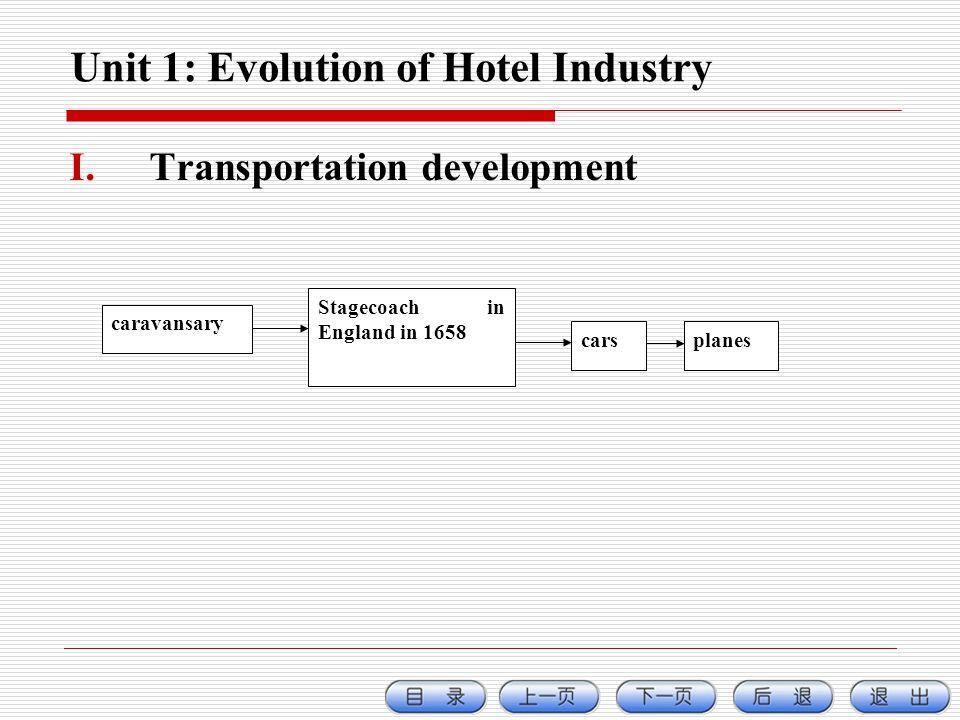 Unit 1: Evolution of Hotel Industry
