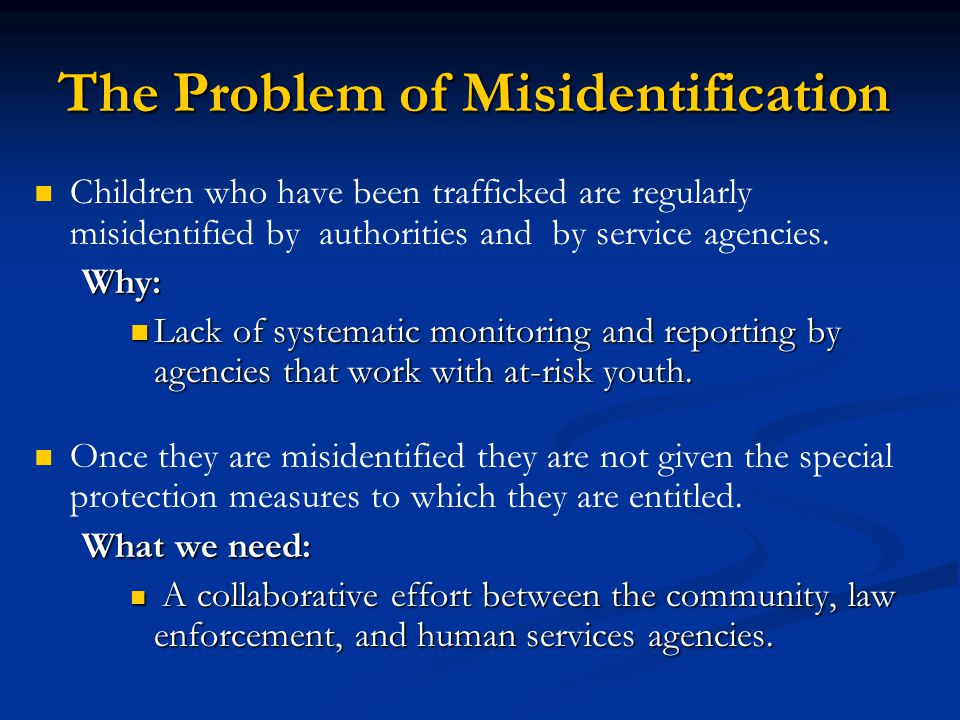 The Problem of Misidentification
