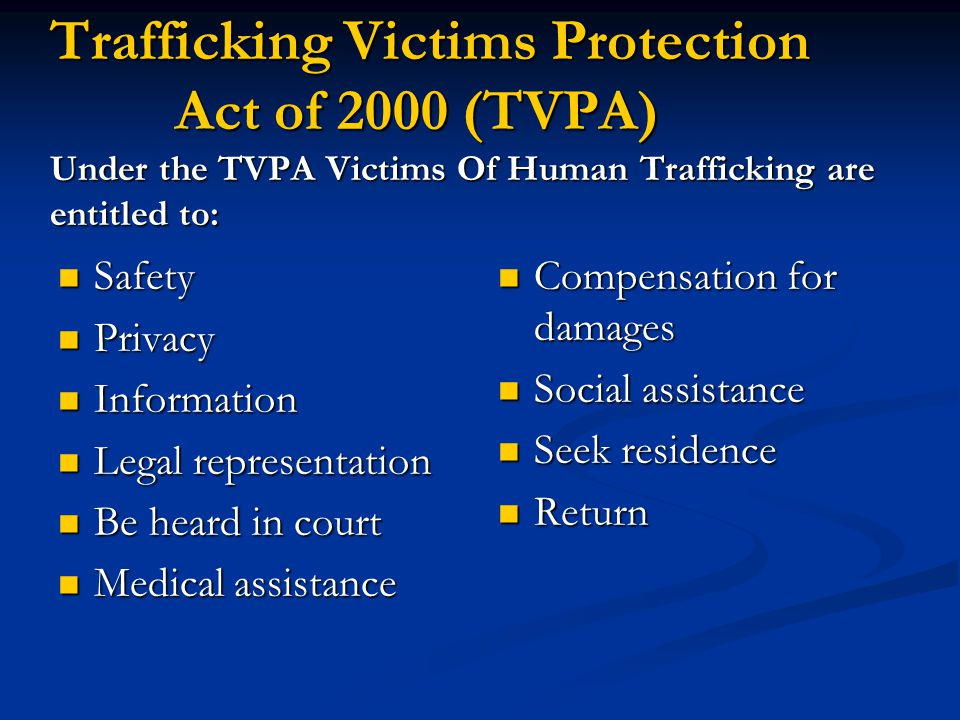 Trafficking Victims Protection