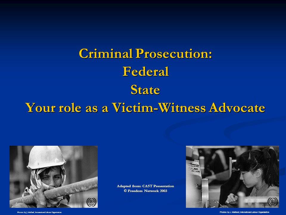 Criminal Prosecution: Federal State