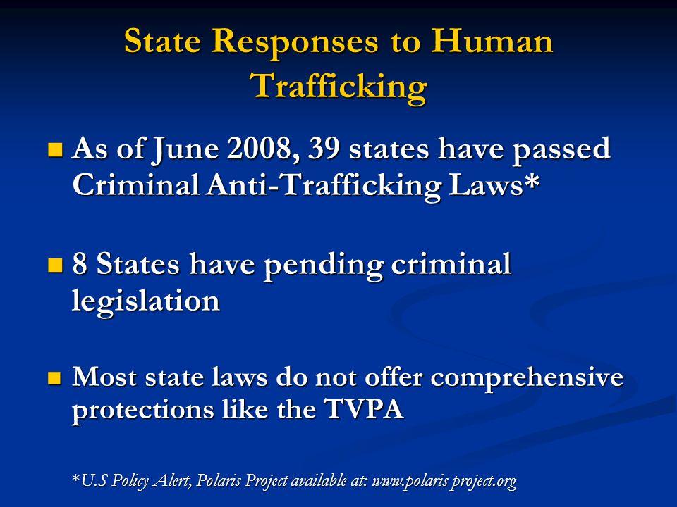 State Responses to Human Trafficking