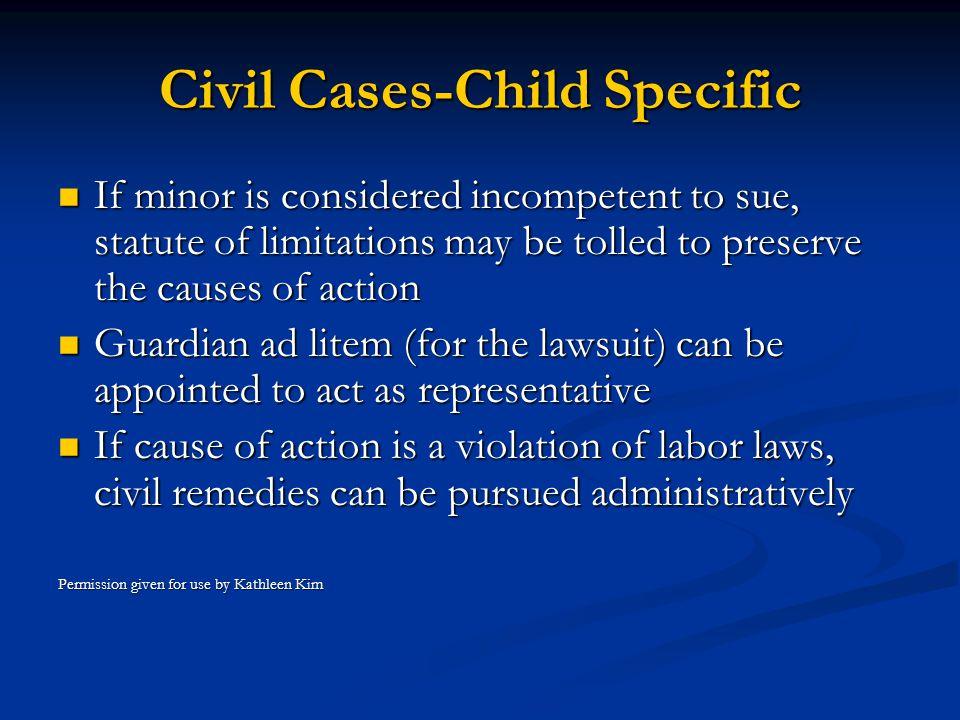 Civil Cases-Child Specific