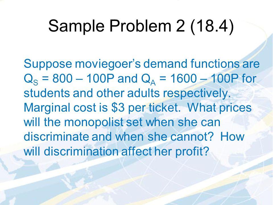 Sample Problem 2 (18.4)