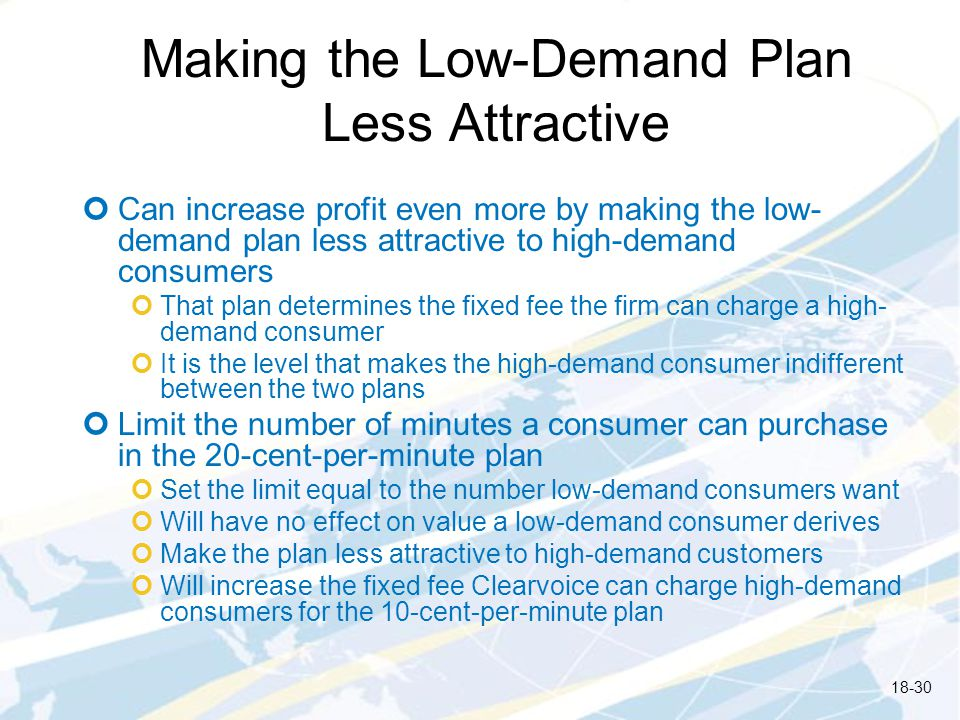 Making the Low-Demand Plan Less Attractive