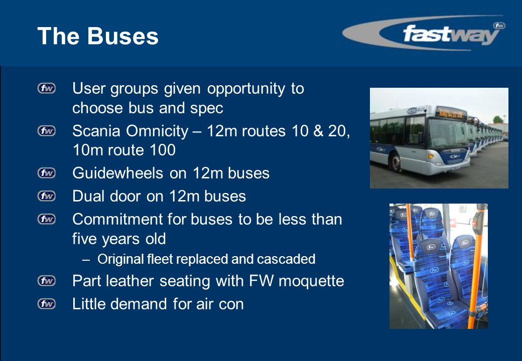 The Buses User groups given opportunity to choose bus and spec