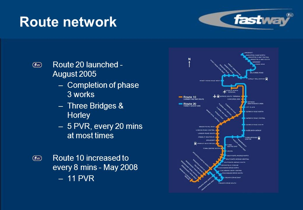 Route network Route 20 launched - August 2005