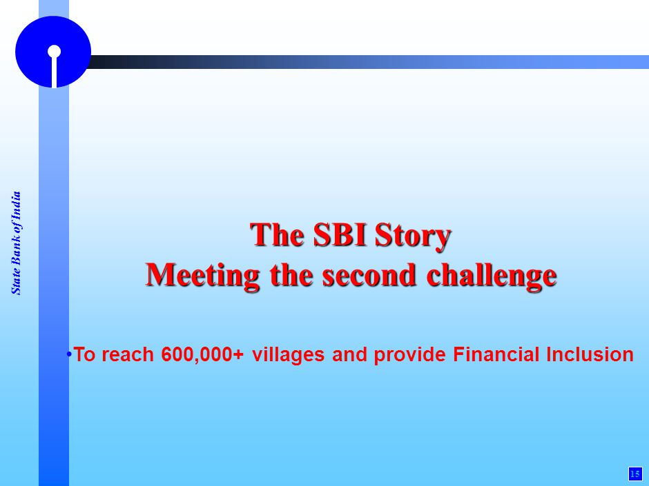 Financial Inclusion: SBI Initiative