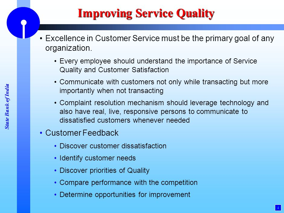 Improving Service Quality