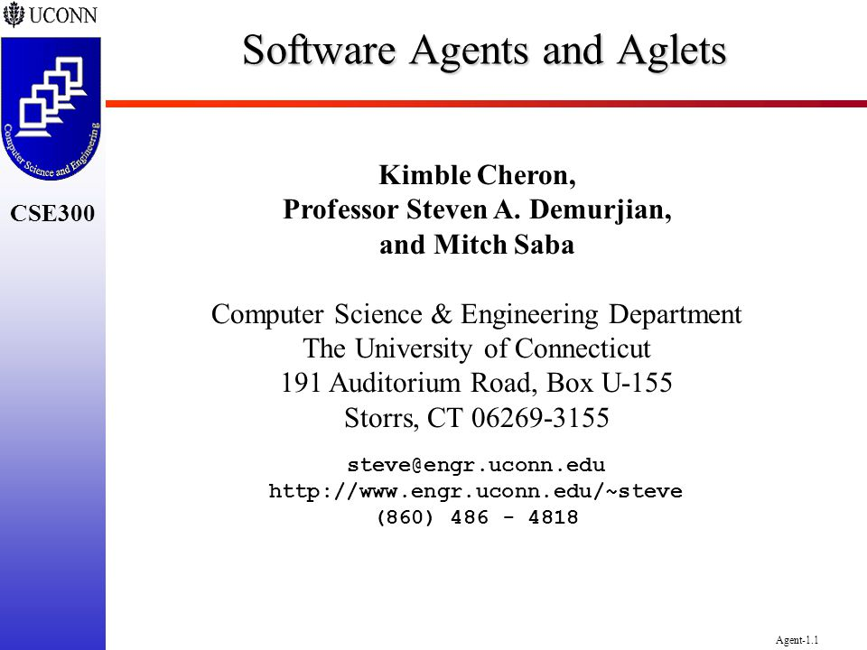Software Agents and Aglets