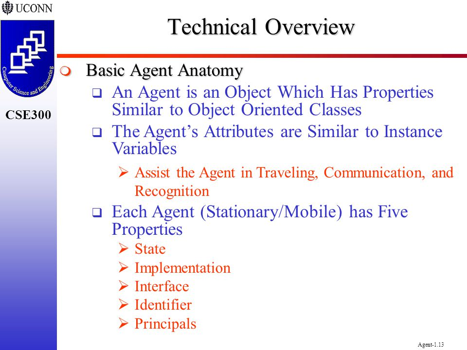 Technical Overview Basic Agent Anatomy