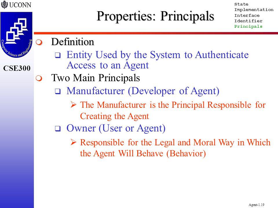 Properties: Principals