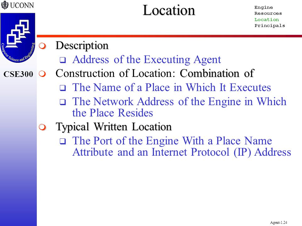 Location Description Address of the Executing Agent