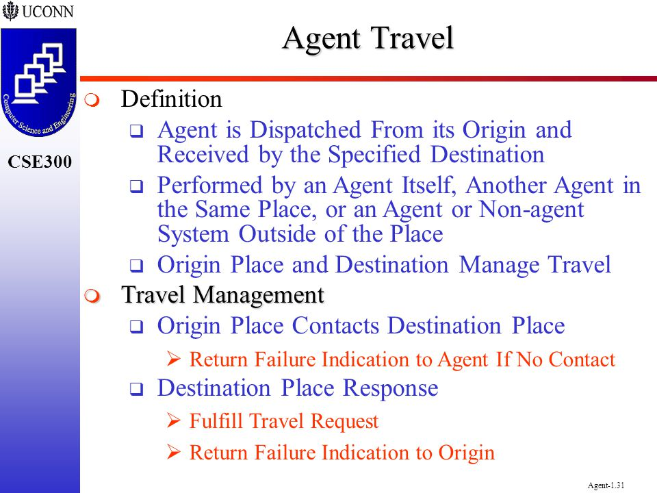 Agent Travel Definition