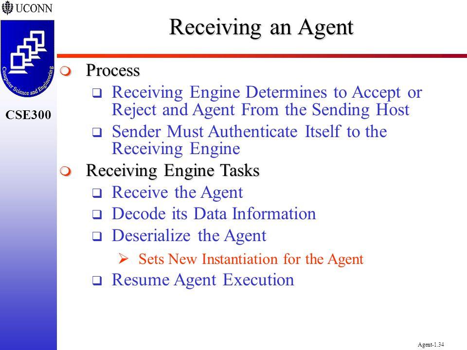 Receiving an Agent Process