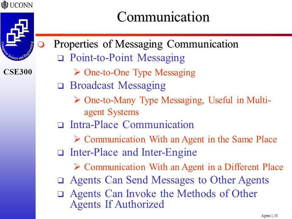 Communication Properties of Messaging Communication