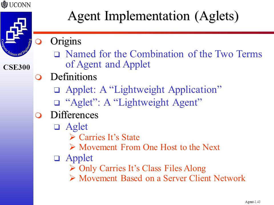 Agent Implementation (Aglets)
