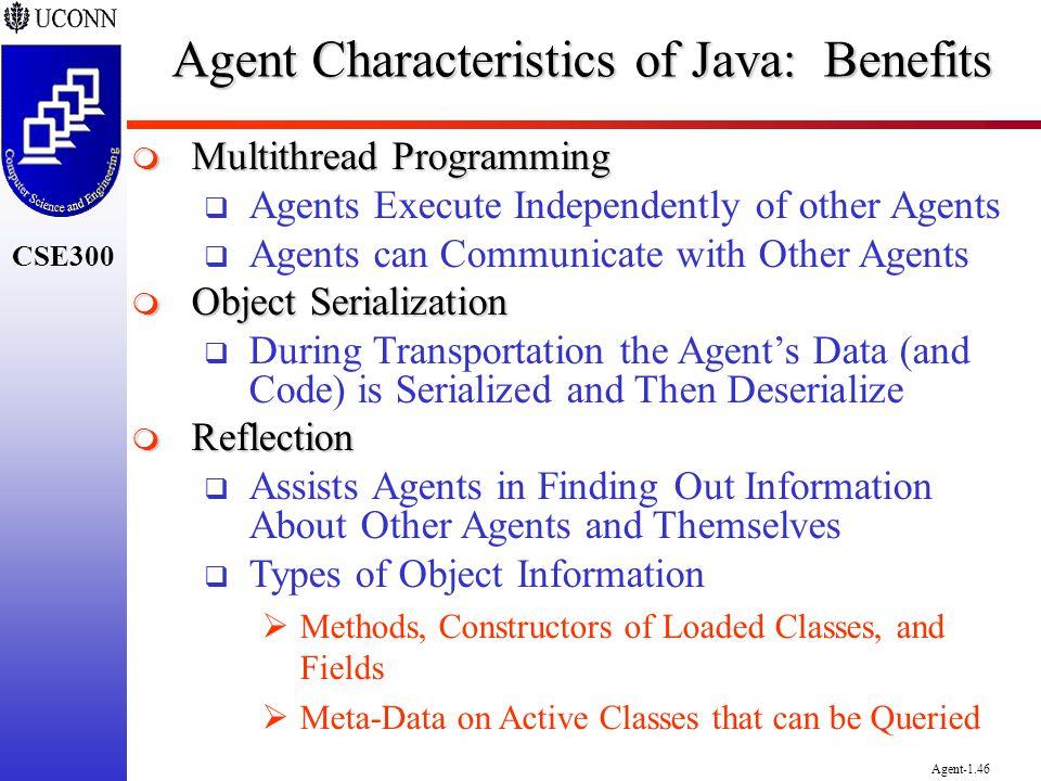 Agent Characteristics of Java: Benefits