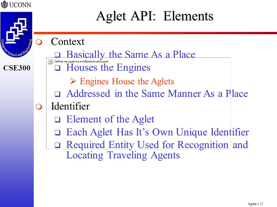 Aglet API: Elements Context Basically the Same As a Place