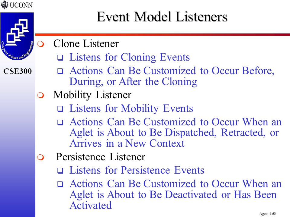 Event Model Listeners Clone Listener Listens for Cloning Events