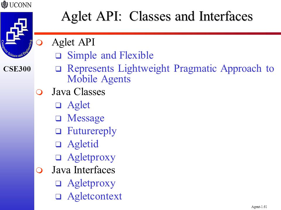 Aglet API: Classes and Interfaces