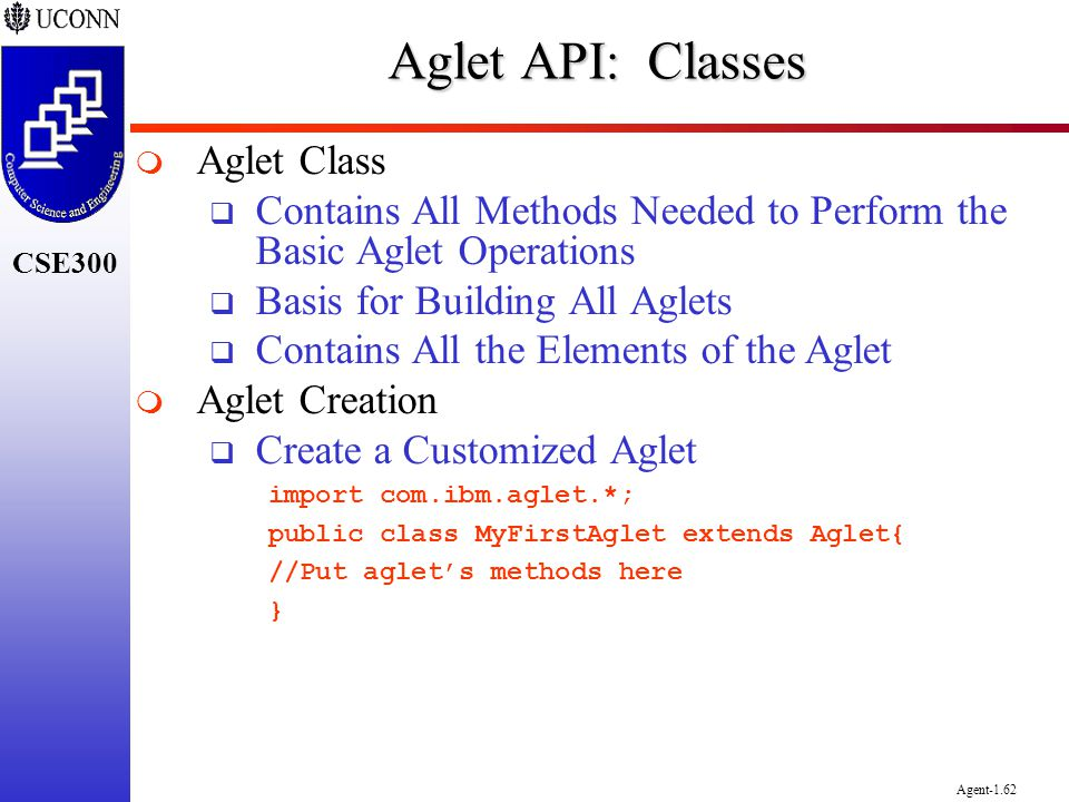 Aglet API: Classes Aglet Class