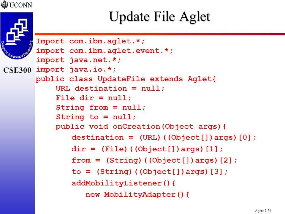 Update File Aglet Import com.ibm.aglet.*;