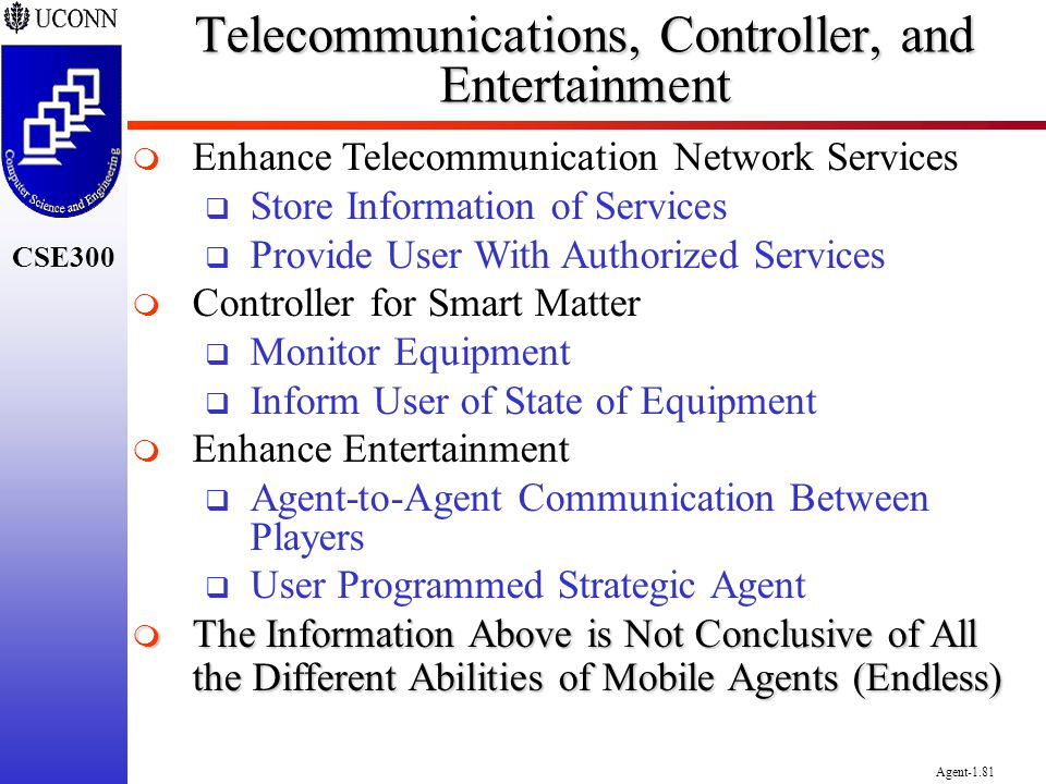 Telecommunications, Controller, and Entertainment