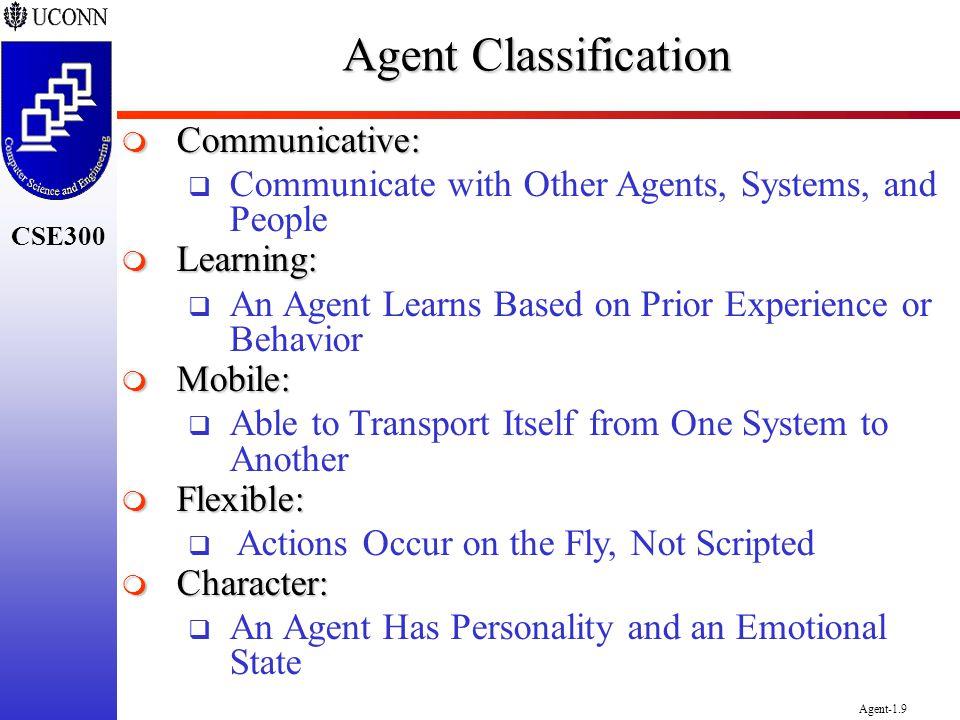 Agent Classification Communicative: