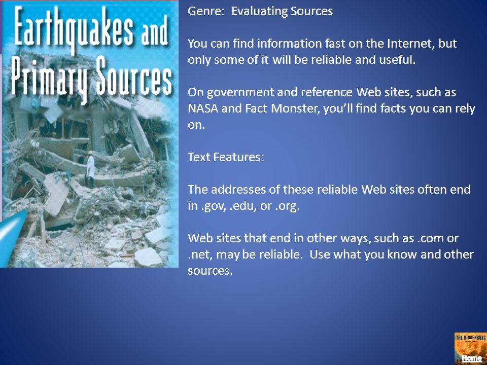 Genre: Evaluating Sources