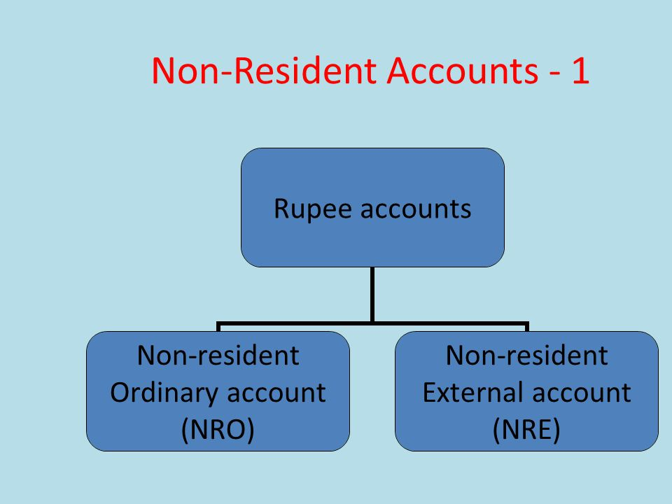 Non-Resident Accounts - 1