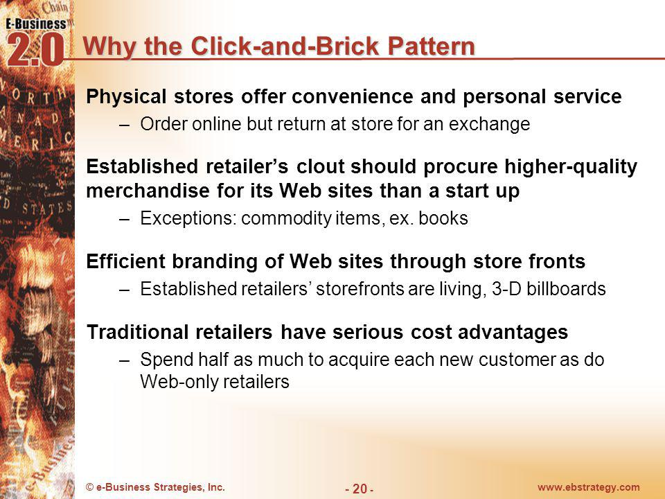 Why the Click-and-Brick Pattern