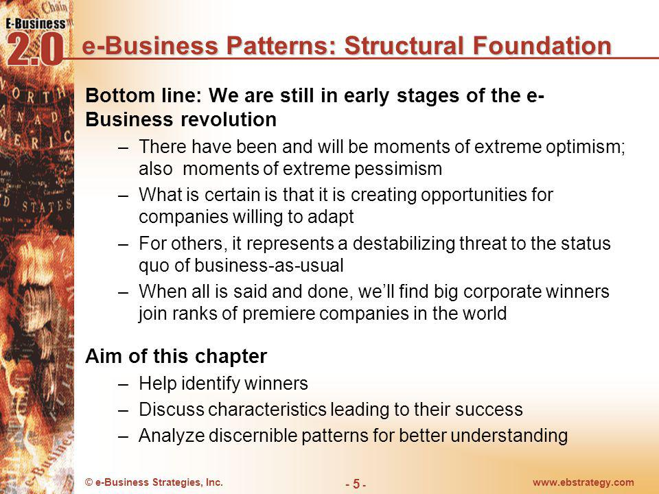 e-Business Patterns: Structural Foundation