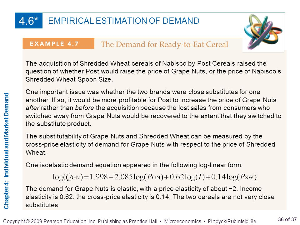 poolvac inc s estimated demand equation