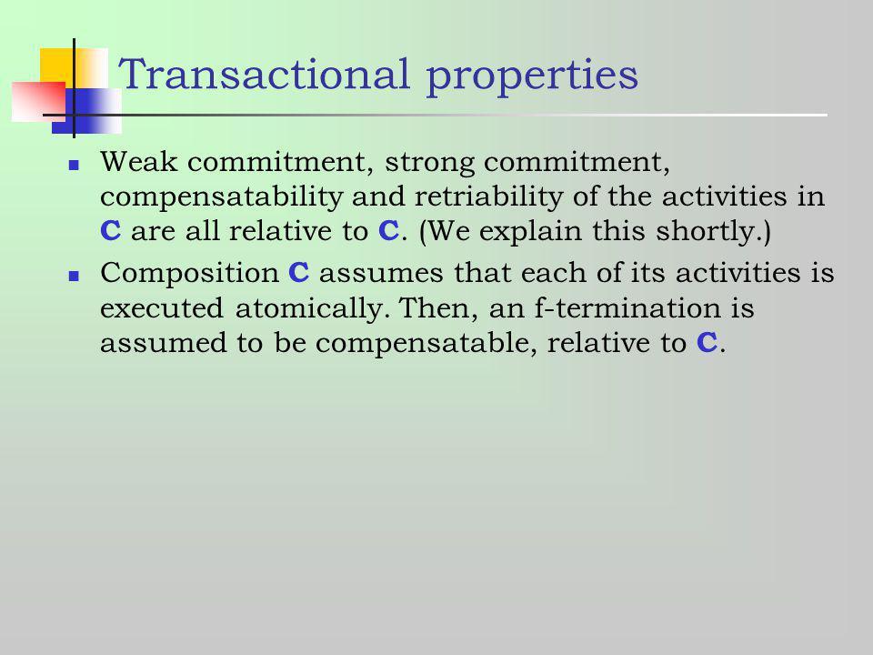Transactional properties