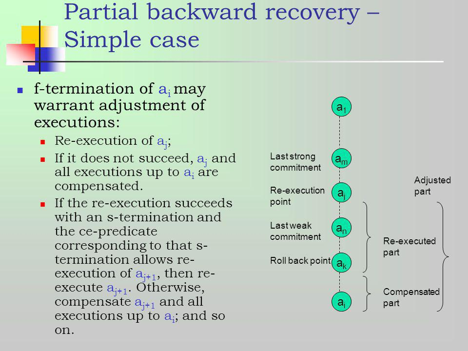Partial backward recovery – Simple case