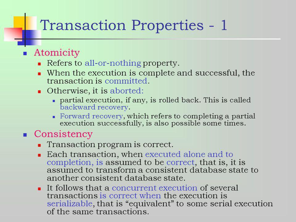 Transaction Properties - 1