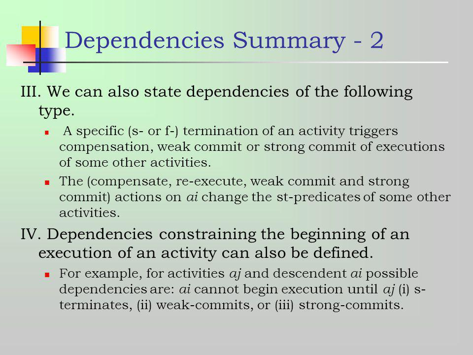 Dependencies Summary - 2